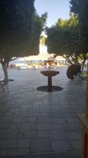 Courtyard where I ate terrible nachos.